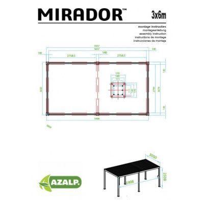 Afbeelding 3 van Sorara Mirador 3x6 Zwart