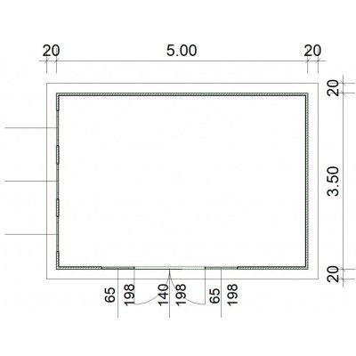 Afbeelding 2 van SmartShed Blokhut Zenon 500x350 cm, 30 mm