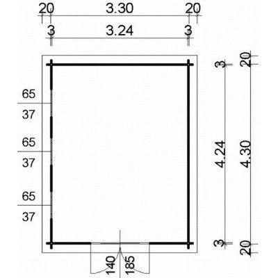 Bild 97 von Azalp Blockhaus Ingmar 350x450 cm, 30 mm