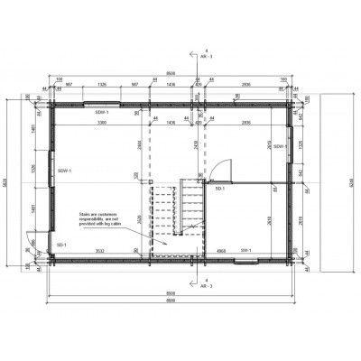 Bild 5 von Graed Langon Chalet 580x870 cm, 44 + 44 mm (Doppelwandig)