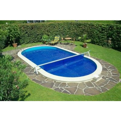 Bild 25 von Trend Pool Beckenrandsteine Tahiti 800 x 400 weiß (für Ovalbecken)