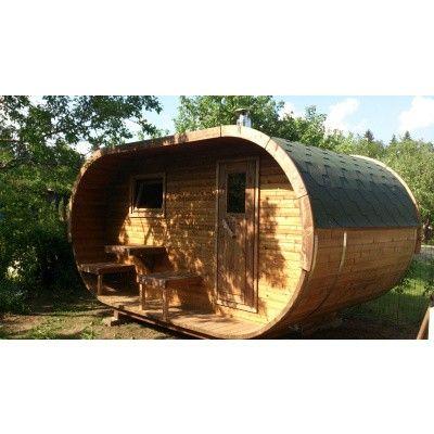 Afbeelding 3 van Ilogreen Barrelsauna Oval Eco, 405x240 cm