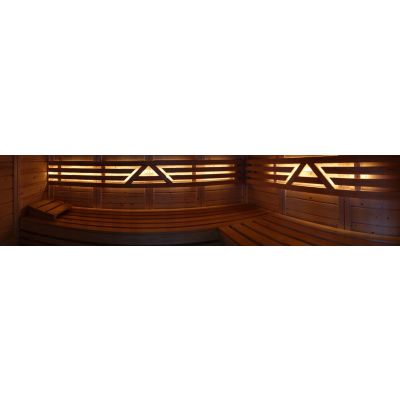 Afbeelding 26 van Azalp Massieve sauna Genio 240x230 cm, 45 mm