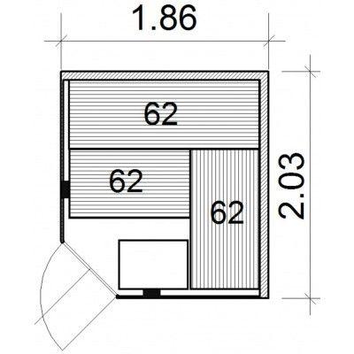 Bild 26 von Azalp Kulma Elementsauna 186x203 cm, Erle