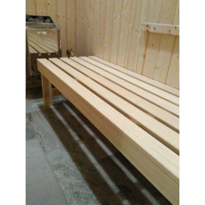 Afbeelding 4 van Azalp Saunabank vrijstaand, Abachi breedte 50 cm