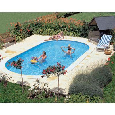 Afbeelding 11 van Trend Pool Boordstenen Tahiti 530 x 320 cm wit (complete set ovaal)