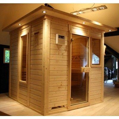 Afbeelding 3 van Azalp Saunaraam massieve sauna Genio 41x76 cm*