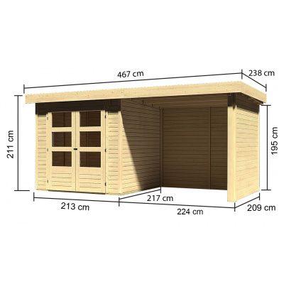 Afbeelding 3 van Woodfeeling Askola 2 met veranda (77722)