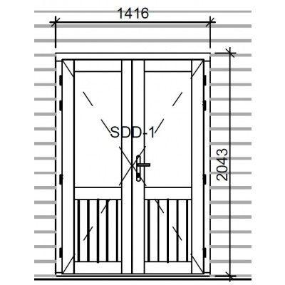 Afbeelding 3 van Graed Dubbele deur met glas