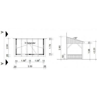 Afbeelding 34 van Azalp Houten veranda 350x200 cm