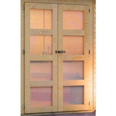 Afbeelding 3 van Karibu Goldendorf 5 met veranda 240 cm (78252)