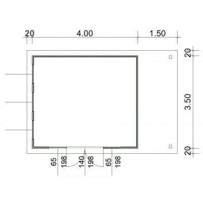 Afbeelding 3 van SmartShed Blokhut Isidro 400x350 cm, 45 mm