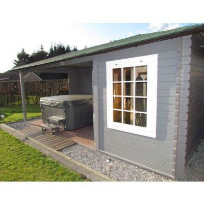 Bild 3 von Interflex Blockhaus 3555 Z, Seitendach 450 cm
