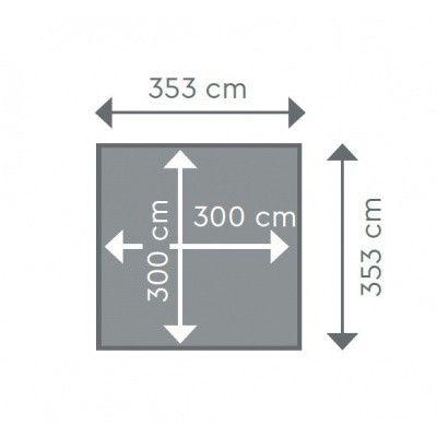 Afbeelding 2 van Procopi Liner tbv Weva Carré vierkant 3x3, h120 blauw 75/100
