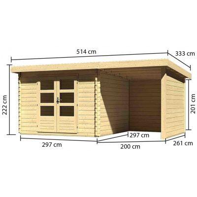 Afbeelding 3 van Woodfeeling Bastrup 5 met veranda 200 cm (73994)
