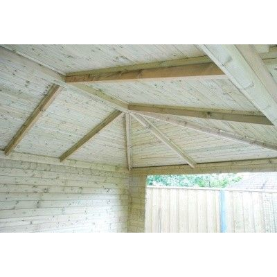 Bild 13 von Interflex Blockhaus 3555 Z, Seitendach 450 cm