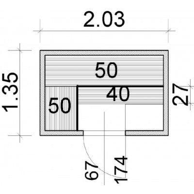 Afbeelding 37 van Azalp Elementsauna 203x135 cm, elzen