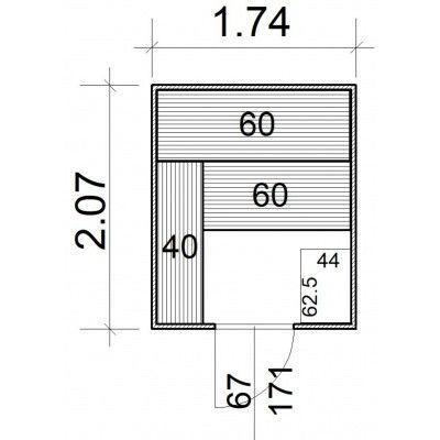 Afbeelding 5 van Azalp Massieve sauna Rio Standaard 174x207 cm, 39 mm