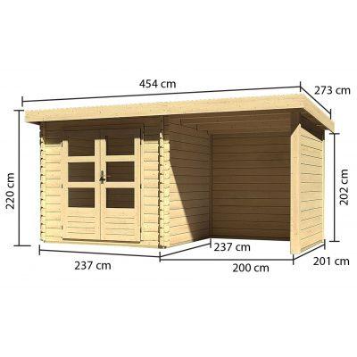 Afbeelding 4 van Woodfeeling Bastrup 2 met veranda 200 cm (73314)