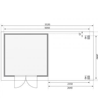 Afbeelding 2 van Woodfeeling Kandern 6 met veranda 240 cm (82998)