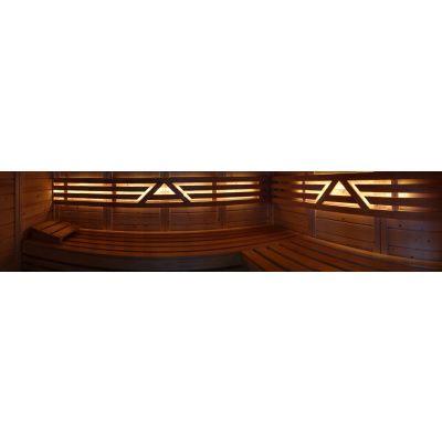 Afbeelding 26 van Azalp Massieve sauna Genio 180x180 cm, 45 mm