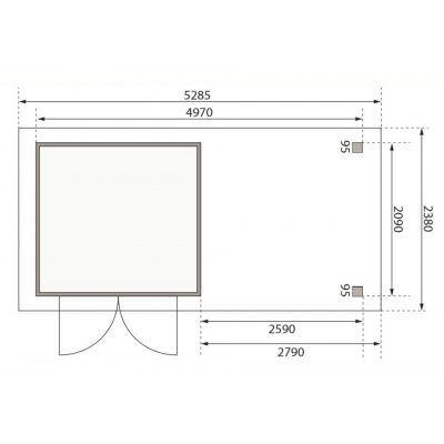 Afbeelding 2 van Woodfeeling Askola 3 met veranda (77727)