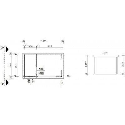 Bild 7 von Azalp Blockhaus Edith 500x300 cm, 45 mm