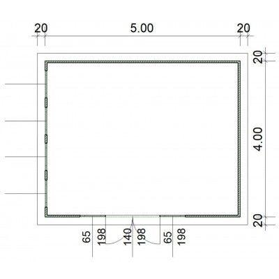 Afbeelding 2 van SmartShed Blokhut Zenon 500x400 cm, 45 mm