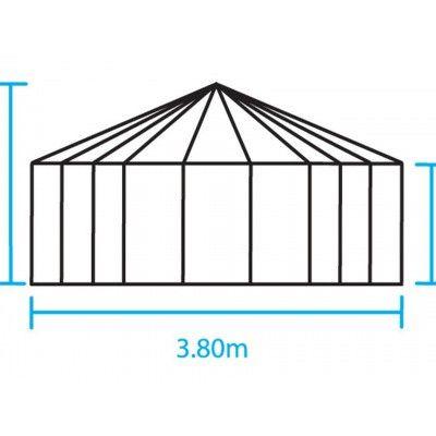 Afbeelding 2 van Royal Well Prieel Atrium 90 groen gecoat veiligheidsglas 3mm