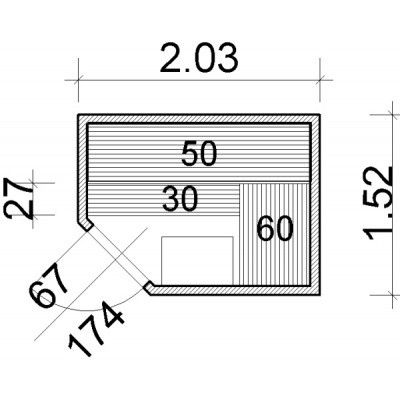 Afbeelding 22 van Azalp Elementhoeksauna 203x152 cm, espen
