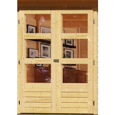 Afbeelding 3 van Woodfeeling Kerko 4 met veranda 240 cm (82942)