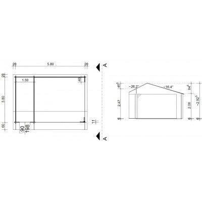 Afbeelding 42 van Azalp Kapschuur Ghita 600x400 cm, 30 mm