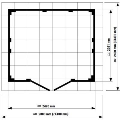 Bild 2 von Grosfillex 22805138 UTILITY V4,9 (242x202cm), grau-grün