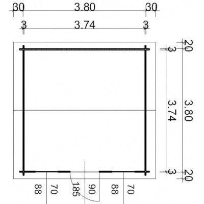 Bild 55 von Azalp Blockhaus Lis 400x400 cm, 30 mm