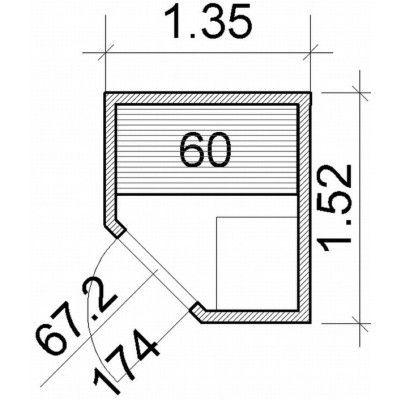 Bild 52 von Azalp Element Ecksaunen 135x152 cm, Erle