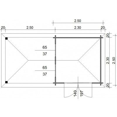 Bild 23 von Azalp Blockhaus Cas 490x250 cm, 45 mm