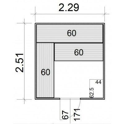 Afbeelding 5 van Azalp Massieve sauna Rio Standaard 229x251 cm, 39 mm