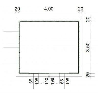 Afbeelding 2 van SmartShed Blokhut Zenon 400x350 cm, 30 mm