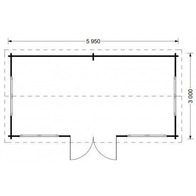 Bild 5 von Graed Oak Blockhaus 595x300 cm, 44 mm