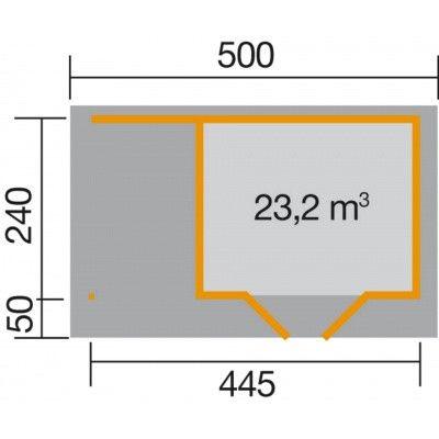 Afbeelding 2 van Weka Designhuis 126 A Gr.1, 445x240 cm grijs