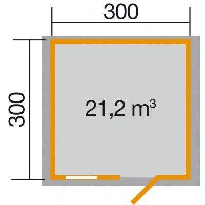 Afbeelding 2 van Weka Tuinhuis Premium28 FT Gr. 3 300cm