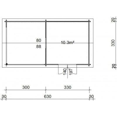 Bild 38 von Azalp Blockhaus Marnix 650x350 cm, 45 mm