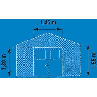 Afbeelding 5 van Grosfillex 22905139 DECO H4,9 (242x202cm), wit-blauw