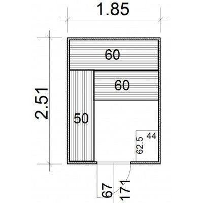 Afbeelding 5 van Azalp Massieve sauna Rio Standaard 185x251 cm, 39 mm