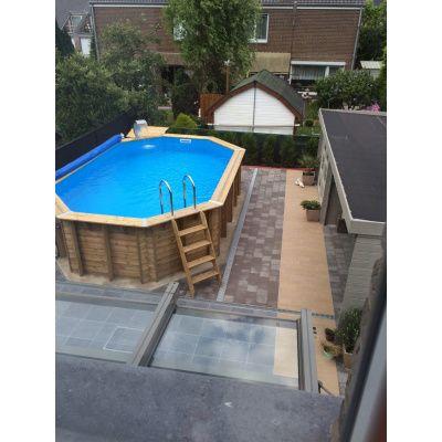 Afbeelding 6 van Ubbink zomerzeil voor Azura 410 cm (6-hoekig) rond zwembad