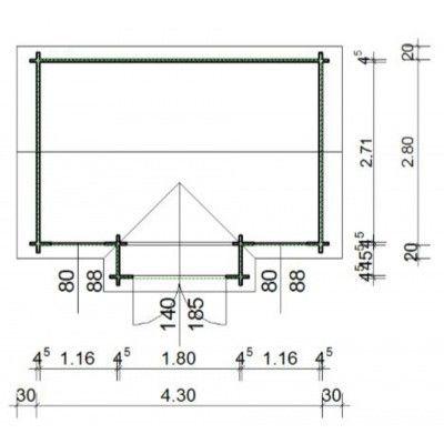 Bild 12 von Azalp Blockhaus Essex 450x300 cm, 45 mm