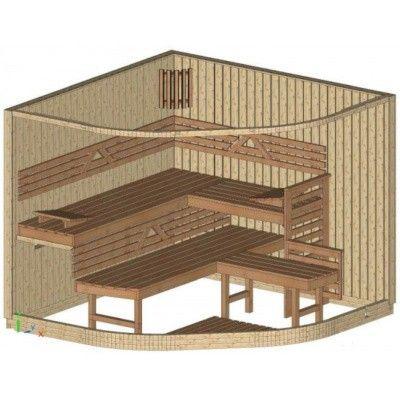 Afbeelding 13 van Azalp Sauna Runda 237x237 cm espen