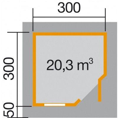 Bild 2 von Weka Designhaus 213 Gr.2, 298x298 cm