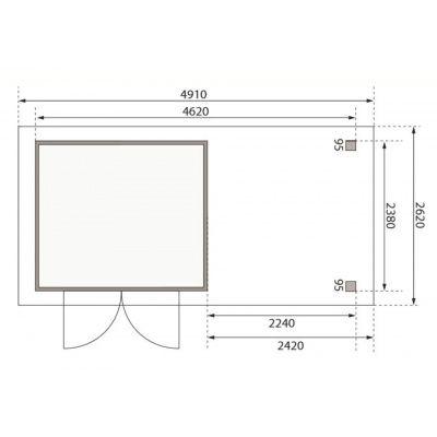 Afbeelding 2 van Woodfeeling Askola 3,5 met veranda (77719)