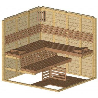 Afbeelding 44 van Azalp Massieve sauna Genio 200x220 cm, 45 mm